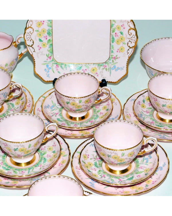(OUT OF STOCK) TUSCAN PINK CHINTZ TEA SET